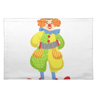 Colorful Friendly Clown Playing Accordion In Class Placemat