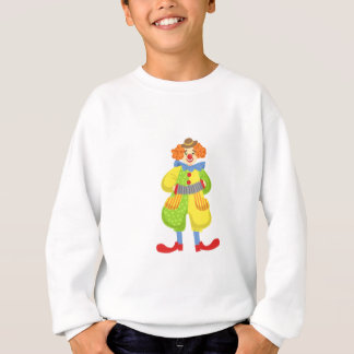 Colorful Friendly Clown Playing Accordion In Class Sweatshirt