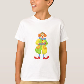 Colorful Friendly Clown Playing Accordion In Class T-Shirt