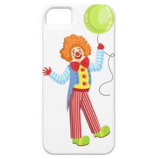 Colorful Friendly Clown With Balloon In Classic Ou iPhone 5 Case