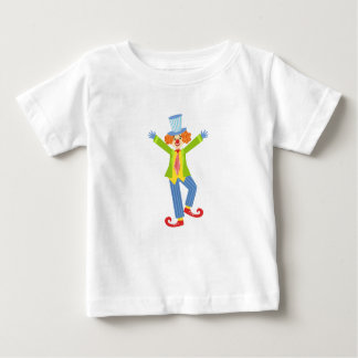 Colorful Friendly Clown With Curled Shoes In Class Baby T-Shirt