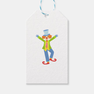 Colorful Friendly Clown With Curled Shoes In Class Gift Tags