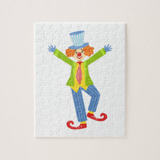 Colorful Friendly Clown With Curled Shoes In Class Jigsaw Puzzle