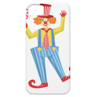 Colorful Friendly Clown With Lollypop In Classic O iPhone 5 Cover