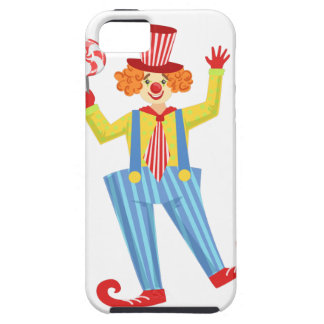 Colorful Friendly Clown With Lollypop In Classic O iPhone 5 Covers