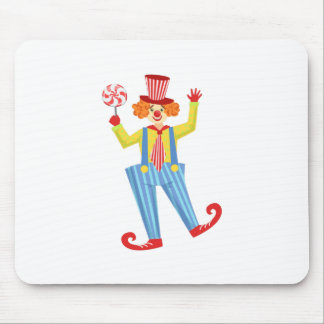 Colorful Friendly Clown With Lollypop In Classic O Mouse Pad