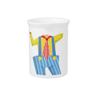 Colorful Friendly Clown With Lollypop In Classic O Pitcher