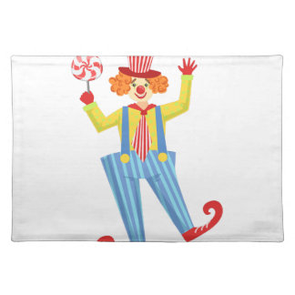Colorful Friendly Clown With Lollypop In Classic O Placemat