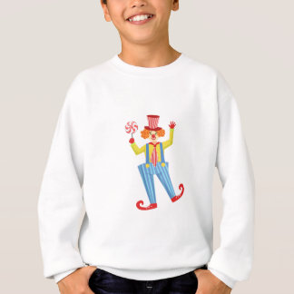 Colorful Friendly Clown With Lollypop In Classic O Sweatshirt