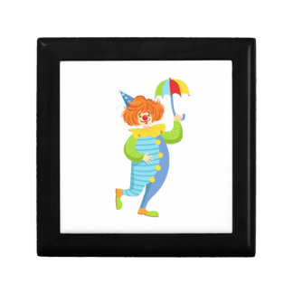 Colorful Friendly Clown With Mini Umbrella Gift Box