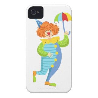 Colorful Friendly Clown With Mini Umbrella iPhone 4 Case