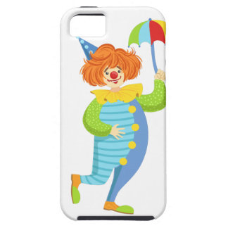 Colorful Friendly Clown With Mini Umbrella iPhone 5 Covers