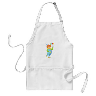 Colorful Friendly Clown With Mini Umbrella Standard Apron