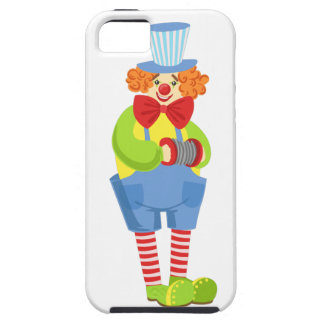Colorful Friendly Clown With Miniature Accordion I Case For The iPhone 5