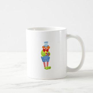 Colorful Friendly Clown With Miniature Accordion I Coffee Mug