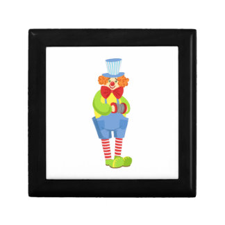 Colorful Friendly Clown With Miniature Accordion I Gift Box