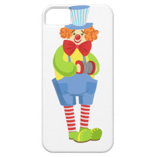 Colorful Friendly Clown With Miniature Accordion I iPhone 5 Covers