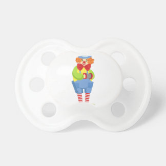 Colorful Friendly Clown With Miniature Accordion I Pacifier