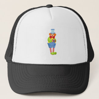Colorful Friendly Clown With Miniature Accordion I Trucker Hat