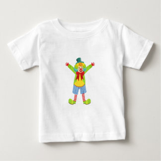 Colorful Friendly Clown With Multicolor Baby T-Shirt