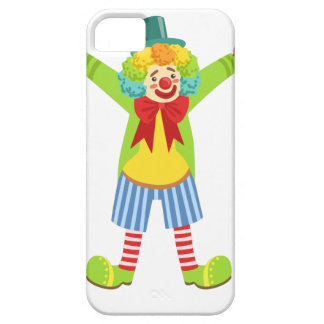 Colorful Friendly Clown With Multicolor Case For The iPhone 5
