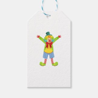 Colorful Friendly Clown With Multicolor Gift Tags