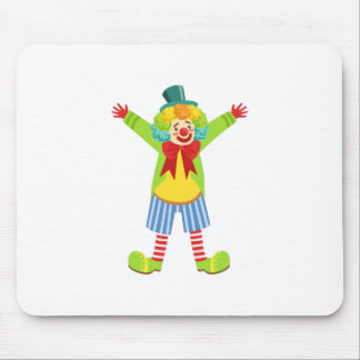 Colorful Friendly Clown With Multicolor Mouse Pad
