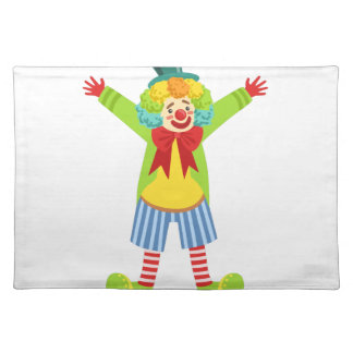 Colorful Friendly Clown With Multicolor Placemat