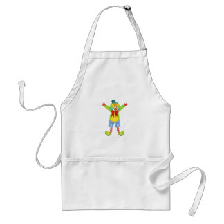 Colorful Friendly Clown With Multicolor Standard Apron