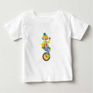 Colorful Friendly Clown With Rainbow Wig In Classi Baby T-Shirt
