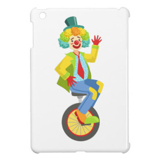 Colorful Friendly Clown With Rainbow Wig In Classi iPad Mini Cover