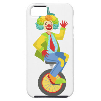 Colorful Friendly Clown With Rainbow Wig In Classi iPhone 5 Case