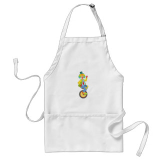 Colorful Friendly Clown With Rainbow Wig In Classi Standard Apron