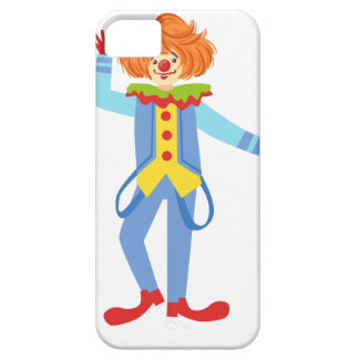 Colorful Friendly Clown With Suspenders In Classic iPhone 5 Cases