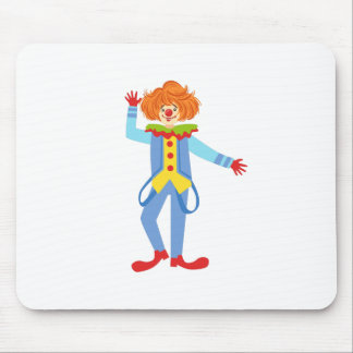 Colorful Friendly Clown With Suspenders In Classic Mouse Pad