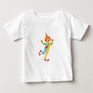 Colorful Friendly Clown With Tie In Classic Outfit Baby T-Shirt
