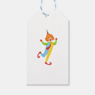 Colorful Friendly Clown With Tie In Classic Outfit Gift Tags