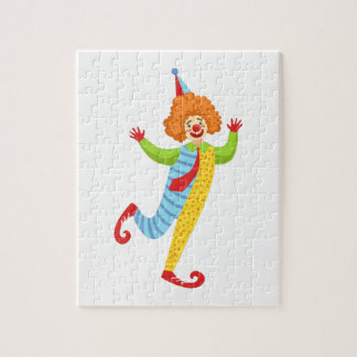 Colorful Friendly Clown With Tie In Classic Outfit Jigsaw Puzzle