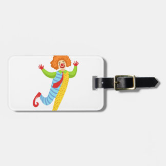 Colorful Friendly Clown With Tie In Classic Outfit Luggage Tag