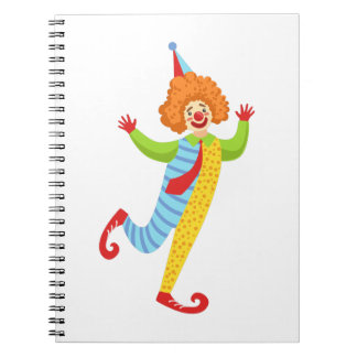 Colorful Friendly Clown With Tie In Classic Outfit Notebook