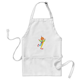 Colorful Friendly Clown With Tie In Classic Outfit Standard Apron