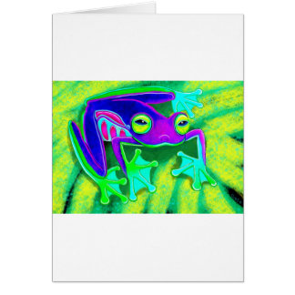 Colorful Frog Card