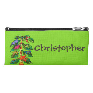 Colorful Frog Tree of Life Spring Green Pencil Case