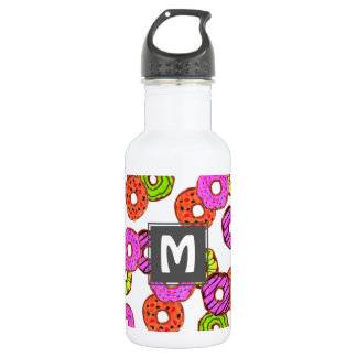 colorful frosted donuts doughnut with sprinkles 532 ml water bottle