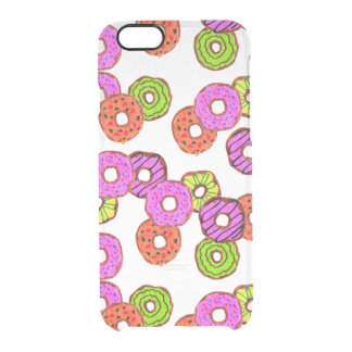 colorful frosted donuts doughnut with sprinkles clear iPhone 6/6S case