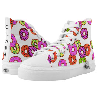colorful frosted donuts doughnut with sprinkles high tops