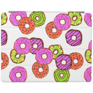 colorful frosted donuts doughnut with sprinkles iPad cover