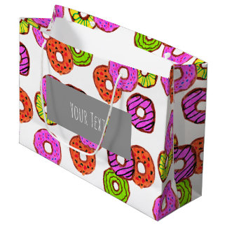 colorful frosted donuts doughnut with sprinkles large gift bag