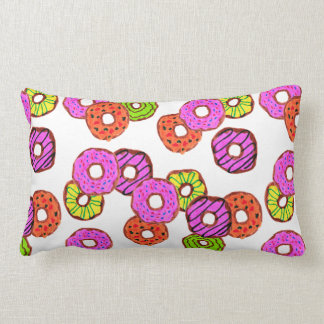 colorful frosted donuts doughnut with sprinkles lumbar pillow