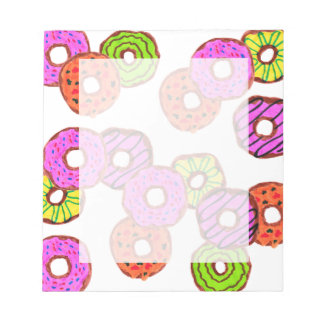 colorful frosted donuts doughnut with sprinkles notepad